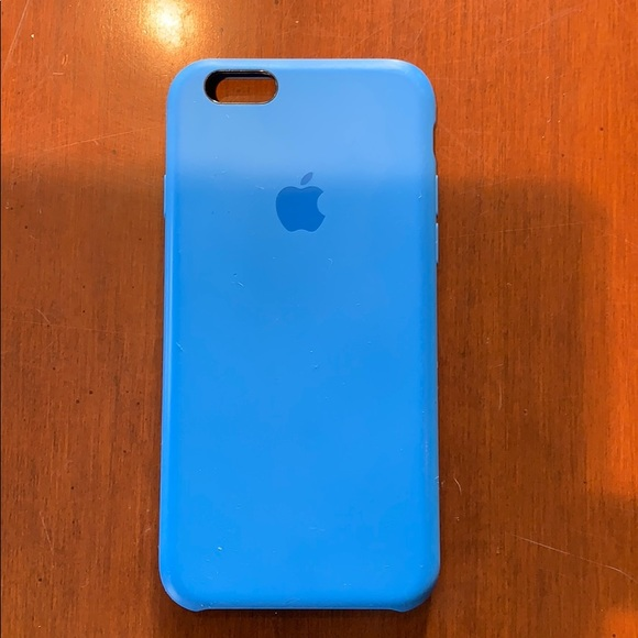 apple iphone xs silicone case cornflower